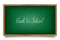 Back to school. School chalk font, , big green board Stock Image