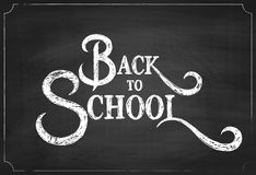 Back to School Chalk Hand Drawing Background Stock Photo