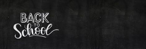 Back to school chalk doodle background on blackboard stock images