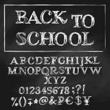 Back to school chalk roman alphabet Stock Photo