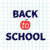 Back to school chalk text on paper sheet Royalty Free Stock Photo