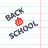Back to school chalk text on paper sheet Royalty Free Stock Photography