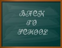 Back to school chalk text. Vector illustration Stock Image