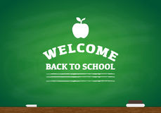 Back to School Chalk Writing Royalty Free Stock Photos