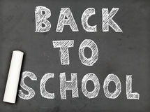Back to school chalk writing Stock Photo