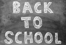 Back to school chalk writing Stock Photos