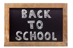 Back to school chalk writing Royalty Free Stock Photo
