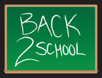 Back To School Chalkboard. A  drawing of a chalkboard with the words Back to School written Stock Image