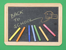 Back to School on chalkboard Royalty Free Stock Images