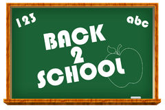 Back to School Chalkboard. A back to school chalkboard Royalty Free Stock Photography