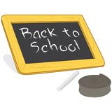 Back to School chalkboard vector. A back to school chalkboard with chalk illustration Stock Images