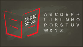 Back to school, Chalkboard with alphabet Stock Photo