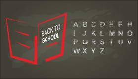 Back to school, Chalkboard with alphabet Stock Photo