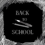 Back to school. Chalkboard background. Hand drawn message writte Royalty Free Stock Photo