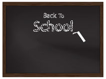 Back to school on chalkboard for background Royalty Free Stock Photography
