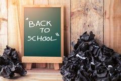 Back to School Chalkboard Background Stock Photos