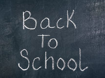 Back to school on chalkboard Stock Photography