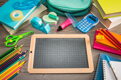 Back to school with chalkboard Stock Images