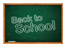 Back to school on chalkboard Stock Photo