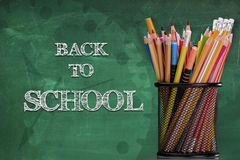 Back to school chalkboard Royalty Free Stock Photos