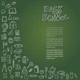 Back to school on chalkboard. Illustration of back to school on chalkboard Vector Illustration