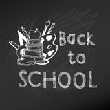 Back to School Chalkboard Stock Photography