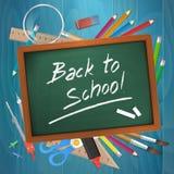 Back to school on chalkboard  illustration Royalty Free Stock Photos