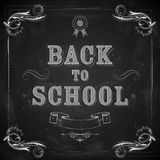 Back to School on chalkboard Stock Image