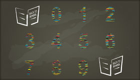 Back to school, Chalkboard with number Royalty Free Stock Images
