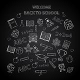 Back to school chalkboard sketch Stock Photography