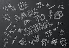 Back to school chalkboard sketch Stock Photo