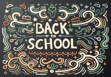 Back to school chalkboard sketch. Vector illustration. Stock Image