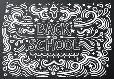 Back to school chalkboard sketch Vector illustration Stock Images