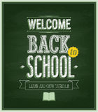 Back to school - Chalkboard. Stock Image