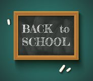 Back to school on the chalkboard. Stock Photo