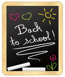 Back to school ! chalked on school slate. Stock Image