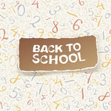 Back to school on chaotic numbers seamless pattern. Vector, EPS10 Stock Images