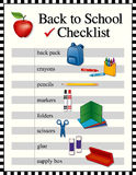 Back to School Checklist Royalty Free Stock Photos