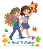 Back to school children Royalty Free Stock Photo