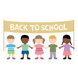 Back to school children. Illustration Stock Illustration