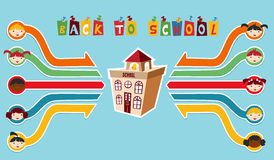 Back to School children network Stock Photography
