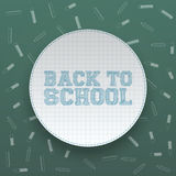 Back to School circle Banner with Shadow Royalty Free Stock Images