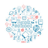 Back to School circle composition Stock Photography