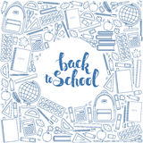 Back to school circle shape template Stock Photography