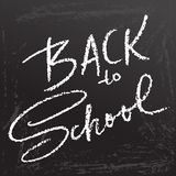 Back to school. Clalk lettering on blackboard surface. Typography poster. Vector illustration. Back to school. Clalk lettering on blackboard surface. Typography Royalty Free Stock Photos