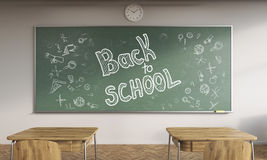 Back to school classroom interior Stock Images