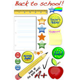 Back to school clip art collection Royalty Free Stock Photos