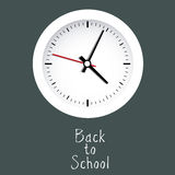 Back to school clock Royalty Free Stock Photography