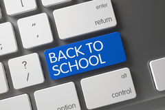 Back To School CloseUp of Keyboard. 3D Illustration. Stock Photo