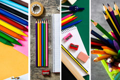 Back to school collage Royalty Free Stock Photography
